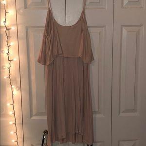 Light pink tank top dress, layered